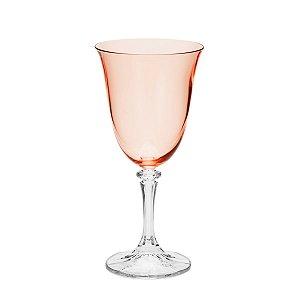 Jogo de Taças Cristal Bohemia Kleopatra Rose Quartz para Água 6 Peças 360ml