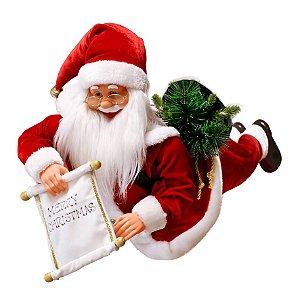 Papai Noel Musical 65cm Window Hang Hello Magizi