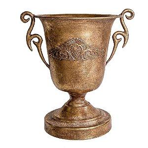 Vaso Decorativo Dourado de Metal Ella Santorine Tok da Casa