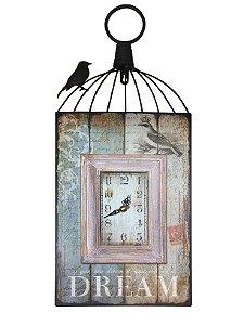 Relógio de Parede Gaiola Vintage Artes Zu