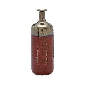 Vaso Decorativo Envelhecido Vermelho 30cm Espressione