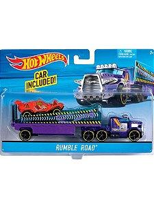 Caminhão Hot Wheels Rumble Road BDW56 Com Carrinho Mattel