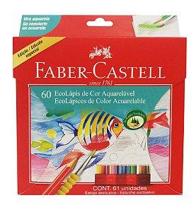 Lápis de Cor 60 Cores Aquarelável Faber-Castell EcoLápis