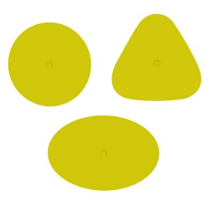Borracha Faber-Castell FC Form Neon Amarela