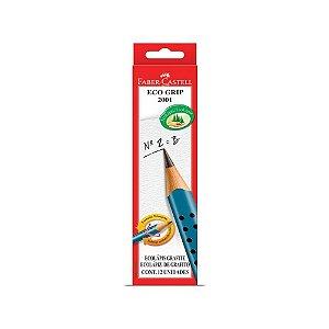 Lápis Grafite Eco Grip 2001 Faber-Castell Azul 12 Unidades