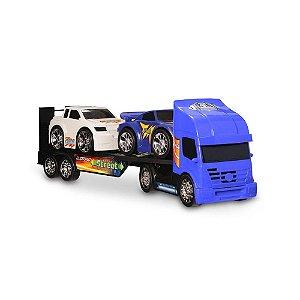 Caminhão Cegonha Racing Street 2 Carrinhos Usual Plastic