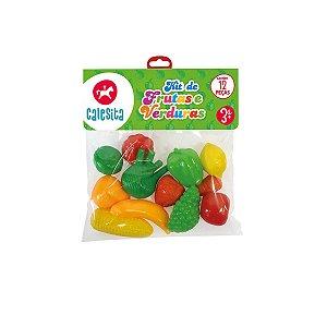 Kit de Frutas e Verduras Calesita 12 Peças