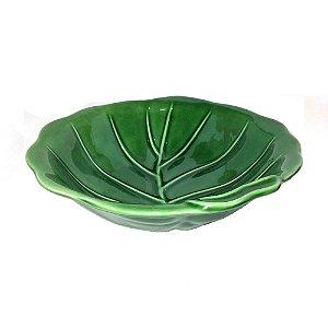 Tigela de Cerâmica Folha Verde 29cm Scalla Brasil
