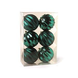 Conjunto de Bolas de Natal Gomos Verde 8cm 6 peças Cromus