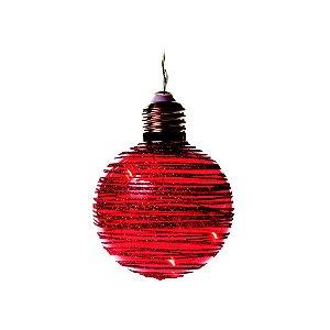 Cordão de Bolas Vermelhas com LED 6 Bolas à Pilha Cromus