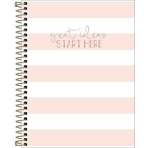 Caderno Colegial Soho Rosa Listras Brancas 1 Matéria 80 Folhas Tilibra