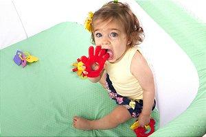Mordedor Milla Baby Pé e Mão Verde e Azul