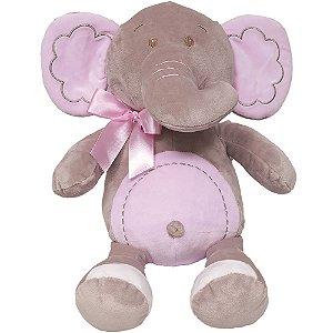 Pelúcia Elefantinha Meu Carinho Rosa Buba