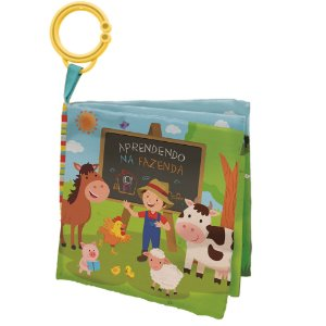 Livro de Tecido Animais da Fazenda Buba
