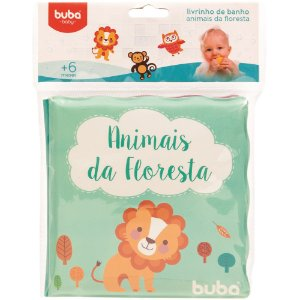 Livrinho de Banho Buba Animais da Floresta