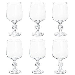 Jogo de Taças Cristal Vinho Tinto Bohemia Klaudie 6 Peças