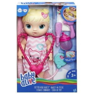 Boneca Baby Alive Cuida de Mim Loira Hasbro
