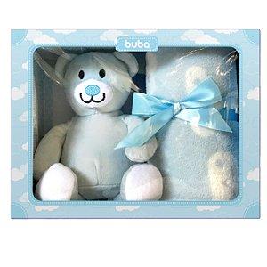 Kit Manta com Ursinho para Bebê Ursinho Azul Buba