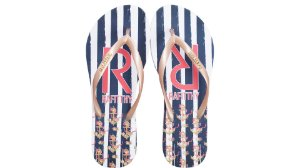Chinelo Rafitthy Navy Flowers