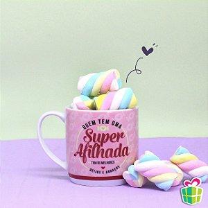 Caneca Super Afilhada 360ml Porcelana