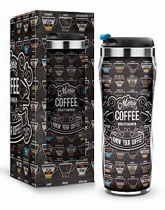 Copo Térmico para Viagem Menu Coffee 450ml