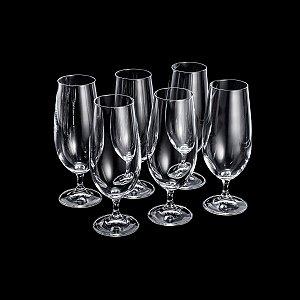 Jogo de Taças Cerveja para Degustação Cristal Bohemia Gastro/Colibri 380ml 6 peças