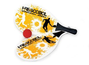 Jogo de Frescobol Madeira MDF com Bola