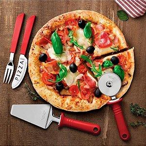 Conjunto para Pizza Tramontina 14 peças Vermelho