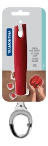 Colher Para Sorvete Tramontina Vermelha Aço Inox Easy