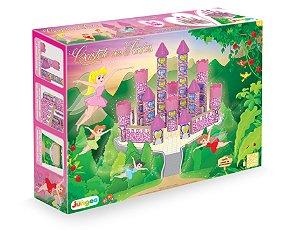 Jogo de Construção Castelo das Fadas em Madeira 54 peças