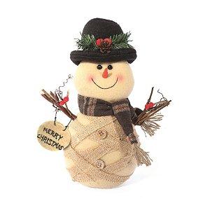 Boneco de Neve Rústico 20cm