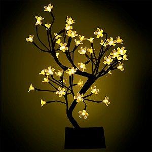 Árvore Cerejeira Luminária 45cm 127V Luz Fixa