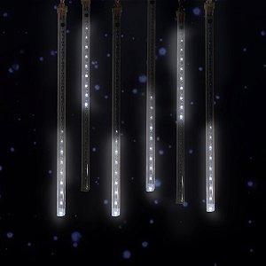 Jogo Bastão de LED Branco 30cm Bivolt 8 Pingentes Magizi