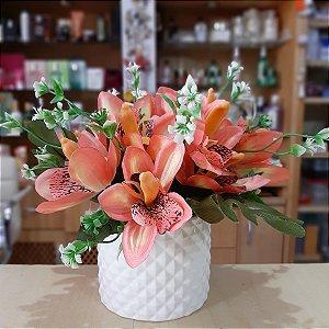 Arranjo de Flores Pequeno Flores Salmão