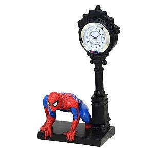 Relógio de Mesa Homem Aranha Resina