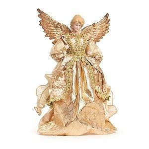 Anjo de Natal Decorativo Dourado 36,5 cm