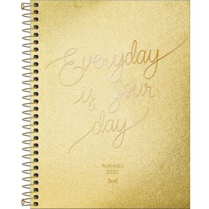 Planner Tilibra Cambridge Shine 2020 Everyday Dourado
