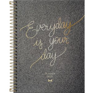 Planner Tilibra Cambridge Shine 2020 Everyday Grafite