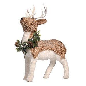 Rena de Natal Decorativa Cromus Newcastle 30 cm