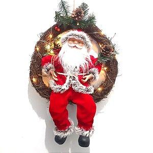 Guirlanda Papai Noel com Luz Cromus
