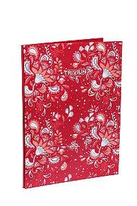 Pasta Catálogo Vermelha Floral Capa Dura 25fls Plástico Fino