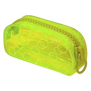 Estojo Escolar Bubble Neon Amarelo DAC