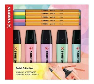Kit Stabilo Pastel Collection 5 Boss Pastel + 5 Point 88 Pastel