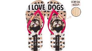Chinelo Feminino Rafitthy LHASA PINK LOVE DOGS 110.01702A