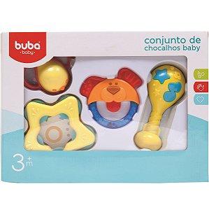 Conjunto de Chocalhos Baby Buba Unissex