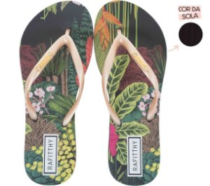 Chinelo Rafitthy Folhas e Flores Nature Plants
