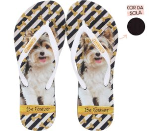 Chinelo Rafitthy Cachorrinho Dog Glitter