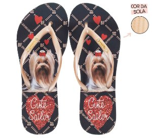 Chinelo Rafitthy Cachorrinho York Cut Sailor