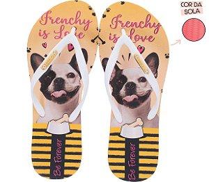 Chinelo Rafitthy Cachorro Bulldog Frenchy Is Love