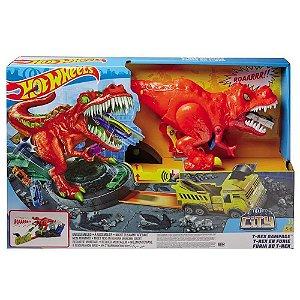 Pista Hot Wheels T-Rex Demolidor Mattel